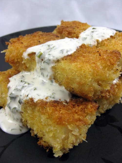 Beer-battered tofu with vegan buttermilk ranch dressing from Meagen of Vegan Food Addict! These are AMAZING, right? Did you want her recipe? Because it's here! I am in awe of these things, they look so good. Meagen will compete in the Chicago Vegan Chef Showdown on Saturday, which you should definitely attend if you're in the area. This event is FREE and ALL-AGES at the Funky Buddha Lounge (728 West Grand Ave.) from 3 to 7 p.m. and is co-sponsored by Mercy For Animals and Upton's Naturals. Seitan! Chicago! At a bar so you can buy booze! If Chicago in July weren't like literal hell on earth, I'd be totally envious of you guys. Hey maybe you want to show your support for the Vegan Food Addict with one of her vegan Cafepress designs? Good luck, Meagen! Have fun, Chicago!