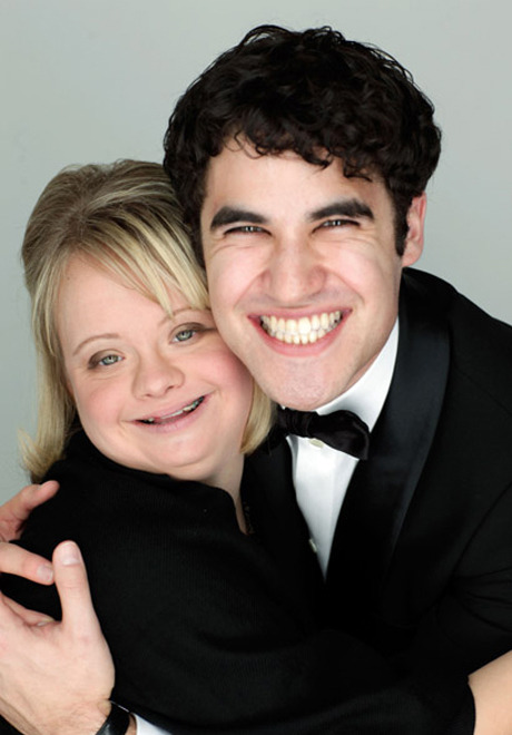Lauren Potter and Darren Criss of Glee being absolutely adorable!
