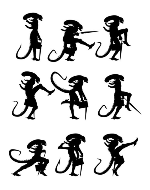 pacalin:  Ministry of Alien Silly Walks - by 6amcrisis Prints available at society6.