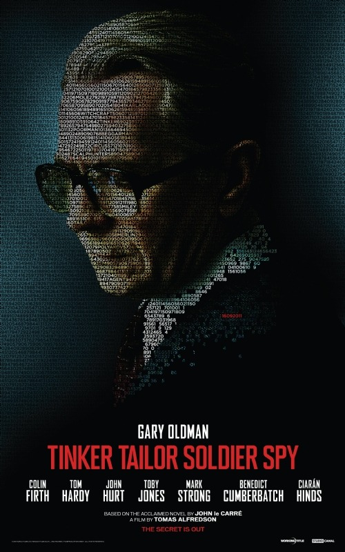 Tinker Tailor Soldier Spy Poster  The brand new poster for Tomas Alfredson's (Let The Right One In) take on John le Carré's classic spy novel Tinker Tailor Soldier Spy was released yesterday. It features Gary Oldman in character as MI6 spook George Smiley, wonderfully masked under a mass of code - See if you can spot the release date hidden amongst it all!