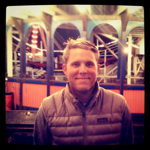 First time on the giant dipper.  (Taken with instagram)