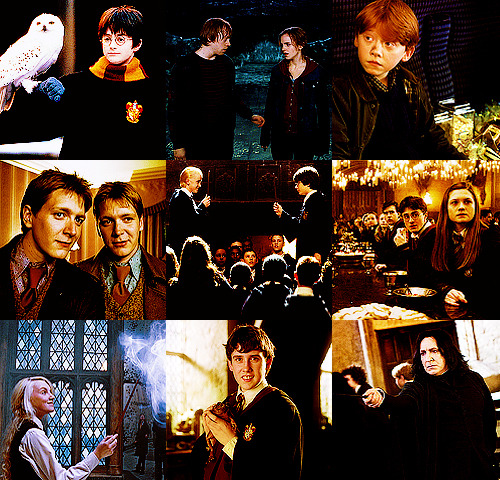 "feltgasm:  HARRY POTTER MEMORIES ""I was thrilled that I was going to get time out of school and more time on a film set, because I enjoyed [the 1999 BBC miniseries] David Copperfield. But I wasn't at the time as swept away by the Harry Potter phenomenon as other kids were. The full implications didn't mean as much to me at the time, though over the 10 years that followed I had great fun playing the part."" —Daniel Radcliffe ""When it came time to shoot the big kiss between Ron and Hermione, Rupert [Grint] and I cracked under the pressure. We were just dying from laughter. It was quite hard to take it all so seriously, but we also knew we had to do it right, because we had only been building up to this moment for 10 years and seven films. I think we got there at the end. I was nervous and giggly, but it was good."" —Emma Watson ""The first thing I shot was the very last scene of the first film, when we're all on the train and leaving Hogwarts and going home. It was my first time anywhere near a film set. There were so many people and so much going on. It was very confusing, and very overwhelming, and yet also really, really exciting. From the very first time Chris Columbus said, 'Action!' I was just on this amazing high."" —Rupert Grint ""[My twin brother Oliver and I] actually didn't find out who was going to play Fred Weasley and who was going to play George Weasley until the read-through. We had the scripts and everything. I honestly did prefer Fred, and that's how it turned out."" —James Phelps ""Daniel is very inspiring to have on set because he's a real workaholic. When you're there for a long day, he's the first one to boost morale and remind us all how lucky we are to be there."" —Tom Felton ""We all read the books when Jo [Rowling] released them, along with everyone else. It let us experience the books as readers and as fans, not just as people who work on the movie."" —Bonnie Wright ""I was an obsessive fan of the books and movies. I remember the day [director] David Yates phoned the house and said I'd be doing a screen test with Daniel Radcliffe. I was pretending to be like, 'Yup, that's fine.' And I was freaking out inside."" —Evanna Lynch ""I wore a fat suit in [films] 3, 4, 5, and 6. And I had false teeth in 3 and 4. I didn't mind it — until I was 14 or 15 and there were girls on set. I was a bit like, 'Why me?""' —Matthew Lewis ""My [filming] was always contained to seven weeks of the year. The rest of the time I was making other movies or directing. But as soon as I put that Snape costume back on, I sort of go, 'Oh, yeah…I know you."" —Alan Rickman"