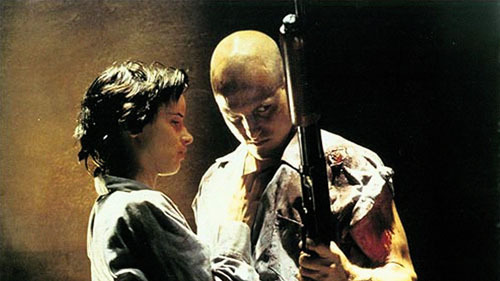 20 Most Violent Movies 5. Natural Born Killers (1994)The Movie: Husband-and-wife mass murderers Mickey Knox (Woody Harrelson) and Mallory (Juliette Lewis) get their kicks carving people up – and are turned into stars by the media.The Violence: Mickey and Mallory may love each other, but they also love the kill. Which means we're treated to bottles smashed into skulls, more bullets than we can count, and sickening displays of sexual assault.Hide Your Eyes When: In the film's iconic shocker of an opening, Mickey and Mallory play a game of eeny, meeny, miny, moe, and take out all of the customers in a roadside New Mexico café - save one.