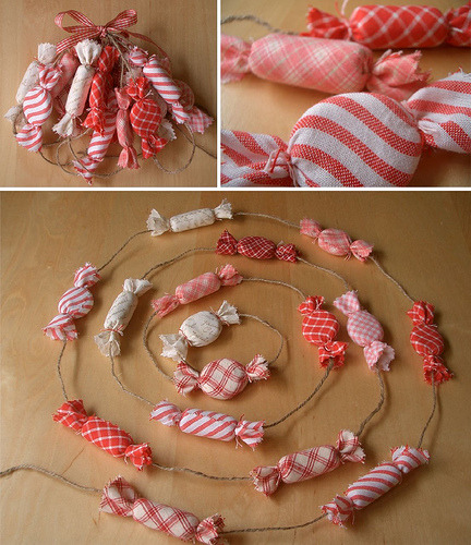 Peppermint garland (by PatchworkPottery)