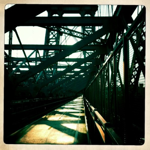My commute over the Williamsburg Bridge.