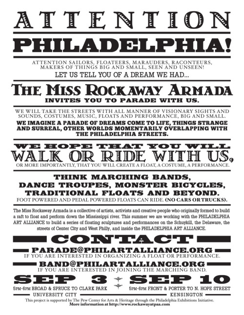 The Miss Rockaway Armada is coming! Philly, are you ready?