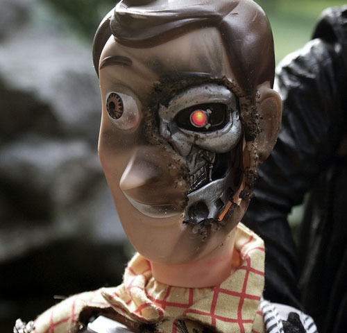 totalfilm:  The Woodinator Insanely cool toy mash-up from this isn't happiness. Toy Story 4 just started sounding a whole lot more appealing…