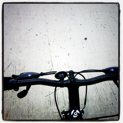 Here I go again. #bikepath #bikenyc (Taken with instagram)