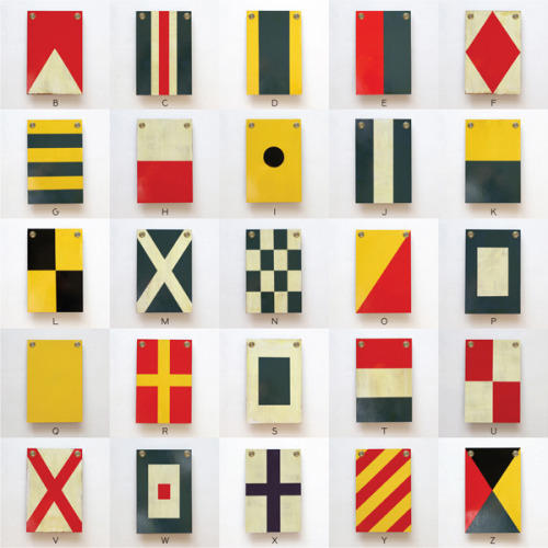 fletter:  26 ridiculously cool hand painted wooden nautical flags from Best Made Company.