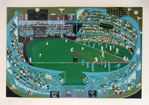 rogallery:  Artist: Ralph Fasanella, American (1914 - 1997) Title: Ball Park Year: 1974 Medium: Serigraph, signed and numbered in pencil Edition: 186/250 Size: 31 in. x 43 in. (78.74 cm x 109.22 cm)