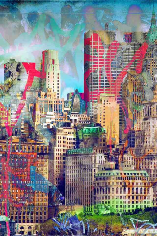 Graffiti Skyline by Derek Prospero  Has been working in Photoshop 7 days a week since 1995. He has worked on hundreds of web, print, and multimedia projects as a freelance artist, expanding a strong passion for visual design in all of its forms. For 4 years, Derek taught intermediate and advanced Photoshop classes at The New England Institute of Technology and Palm Beach Community College. His artwork has been featured in dozens of international books, magazines and lectures where he often provides step-by-step instruction and advice for aspiring artists. He is a three-time recipient of the prestigious Photoshop Guru Award given annually by The National Association of Photoshop Professionals, and is the creator of the widely acclaimed Dilly Rank Icon Collection.