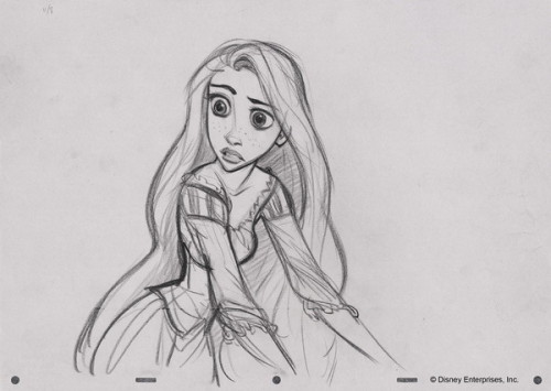 fancysomedisneymagic:  Rapunzel Sketch Glen Keane