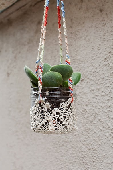 I'm definitely making this for my succulents. Would have been pretty hanging from the tent:( source igobykatie