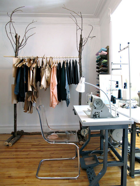 Love this whimsical clothes rack! (Source: Design Sponge)