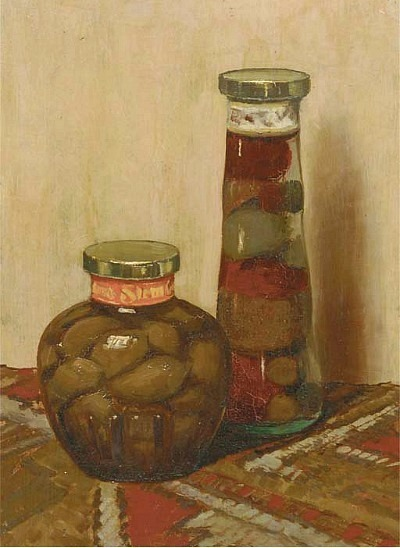 Unknown (Dutch) Still life with Olives and Peppers 20th century