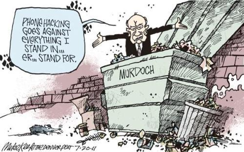 Rupert Murdoch on Phone Hacking The Denver Post's Mike Keefe on the Rupert Murdoch/ phone hacking scandal.