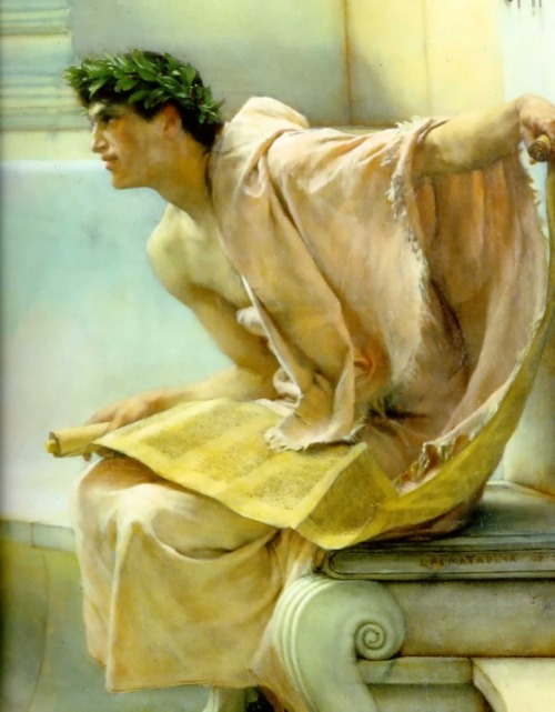 srednod:  A reading from Homer (detail) - Sir Lawrence Alma Tadema
