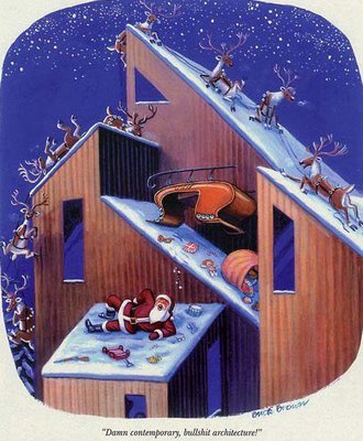 lawaffleria:  Contemporary Architecture vs. Santa