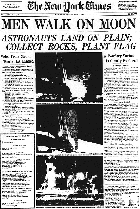 "inothernews:  Today is the 42nd anniversary of Neil Armstrong and Buzz Aldrin landing on — and stepping onto — the surface of the Moon.   So Happy Moon Day, otherwise known as ""Happy We Won't Be Going Back There Any Time Soon, Bad Enough We Were Happy With Low Orbit Spaceflights and Space Stations and Now, Those Will Go Bye-Bye Day,"" or ""Happy Shut Up, Conspiracy Theorists, We Did So Go To The Moon Day."" (via Mediabistro)"