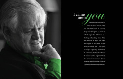 Ted Kennedy Article LayoutPhotoshop, InDesign Objective: To create a layout for an article of our choosing. This  particular article recounts Ted Kennedy's visit to Northern Ireland and  his speech on peace.