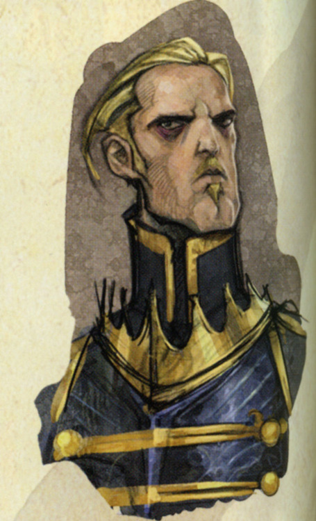 balverine:  Blond and mustache. He looks like a male Larxene from Kingdom Hearts…..