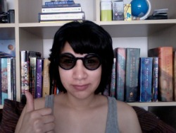 my beautiful glasses came today!hell yeah!i wish i could wear them everywhere LOLoh and you can see how short that stupid lady cut my hair :(