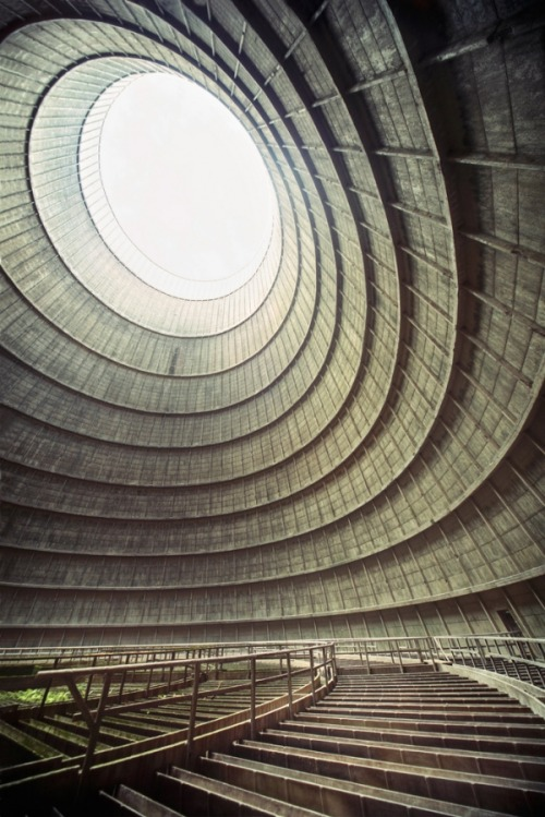 Inside the cooling tower of an abandoned power plant by Richard Gubbels