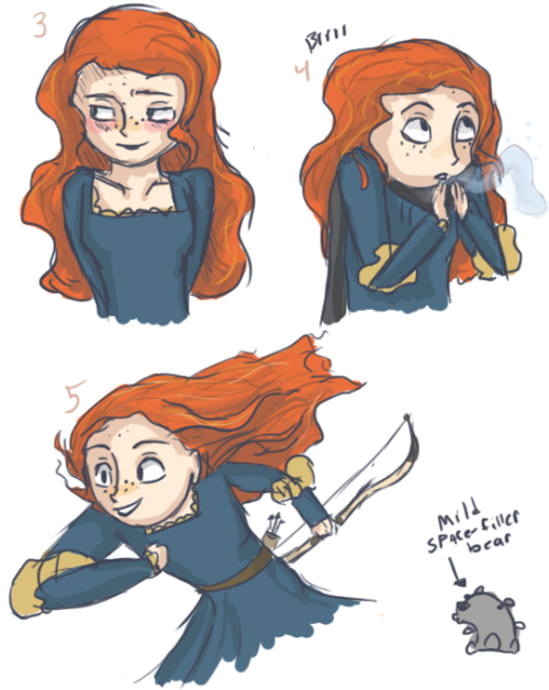 Princess Merida drawings by Wolf-Terrier!