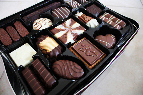 I love milk choc and white choc…