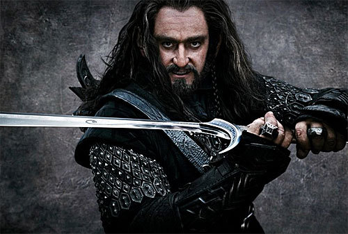 Richard Armitage as Thorin Oakenshield in the upcoming Hobbit films. As yet, he looks WAY too much like a Klingon… maybe he'll look better in the context of the film.