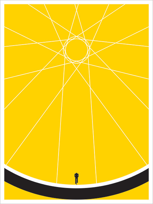 I've been bicycling more. This is awesome.     karenh: Biker screen print by Jason Munn