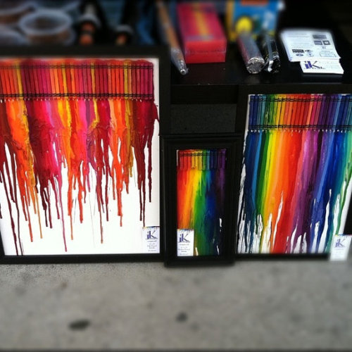 Crayon Art {Inspiration} Soooo pretty!!! Found HERE