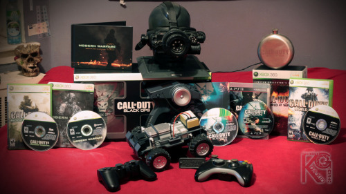 fycod:  kgdakid:  So I keep seeing peoples Call of Duty Collection, so i decided to take a picture of mine… :)  So I'm jealous.  Nice. I'm getting there. Have most of what's in this pic. <3 Love the collection.