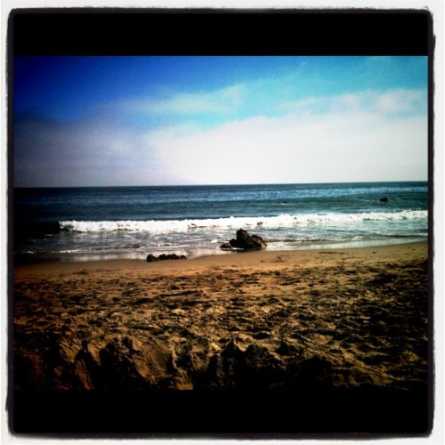 Sweet day at the beach, now heading to the airport (Taken with Instagram at El Matador Beach, California)