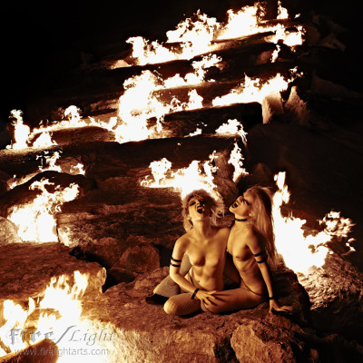Ian Grindall — Firelight Arts Photography.All Real Fire. Models are Poisonne (Me!) and Kassandra Love.