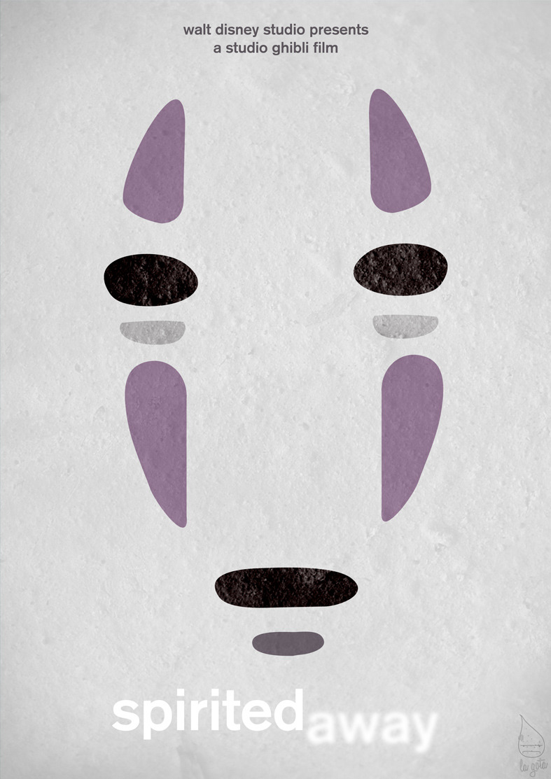 Cartel | Diseño minimalista de Spirited Away del Studio Ghibli | Reblogged From >  fabiocs:  Studio Ghibli Series - Spirited Away