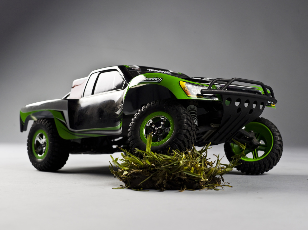 Tearin' up the studio Traxxas style.
