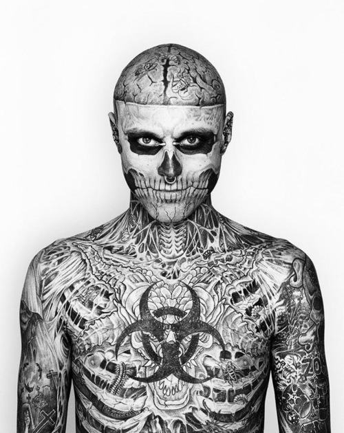 Rick Genest, better known as Zombie Boy