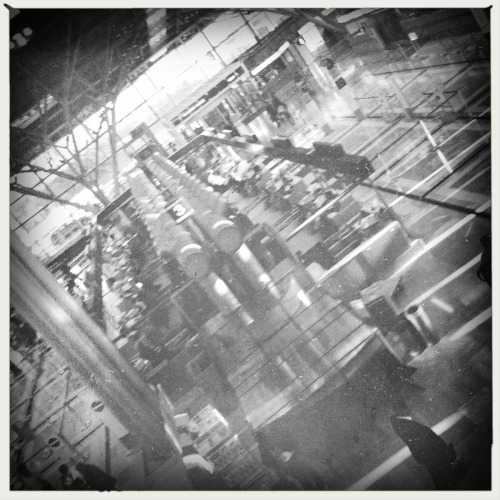 Str Airport Bettie XL Lens, AO BW Film, No Flash, Taken with Hipstamatic