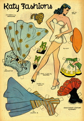 Katy Keene comics paper dolls