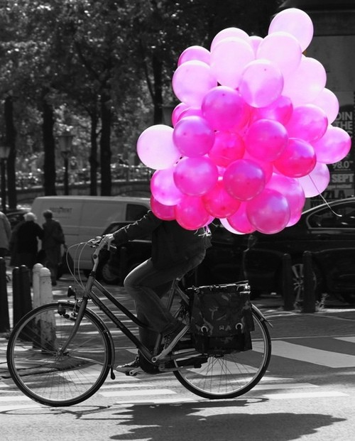 bike and baloons!