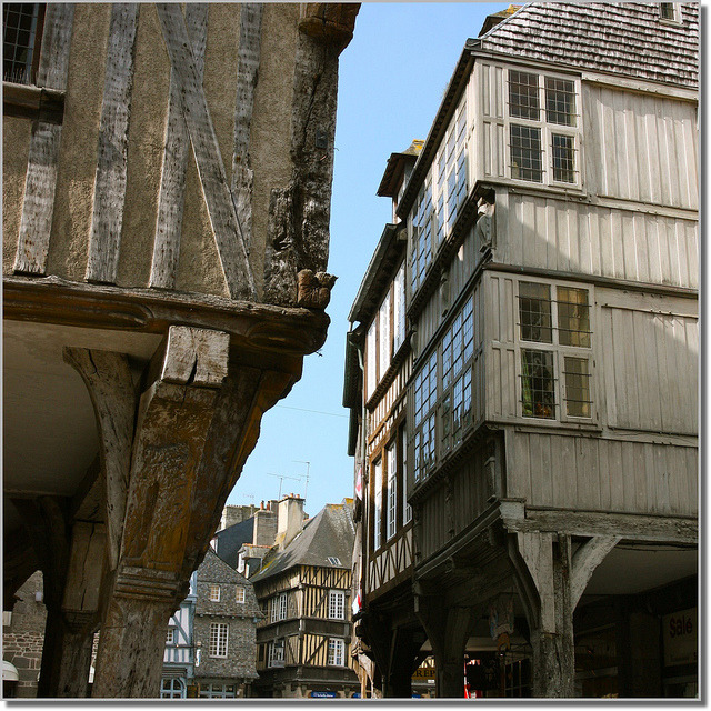 | ♕ |  Medieval Houses in Dinan, Bretagne  | by © Vince Arno | via ysvoice