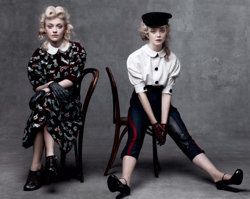Dakota and Elle Fanning for The Age Issue of Vogue