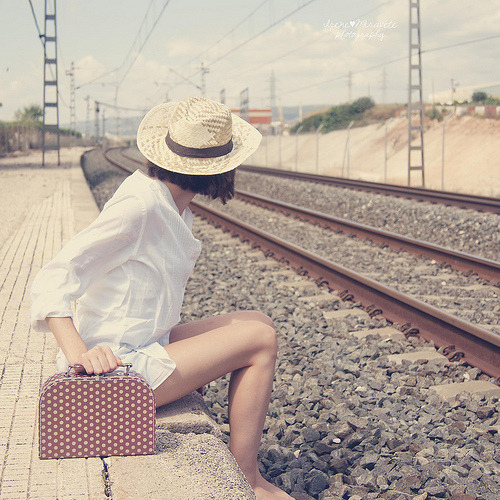 Waiting for a train in Valencia, Spain (by {Irene Miravete} [en modo beach])