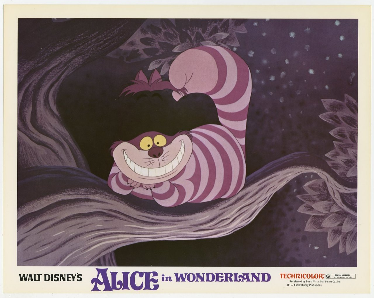 Alice in Wonderland, US lobby card. 1974 re-release