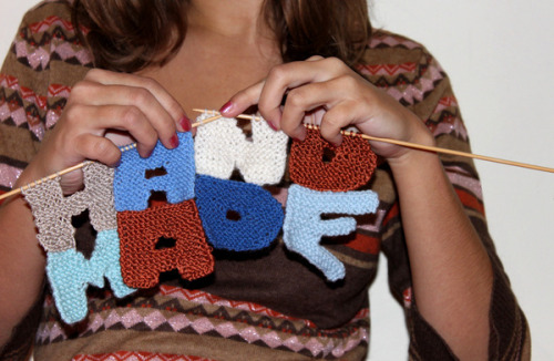 sheepishknitcrochet:  Hand Made - 30 Unique Typography Designs