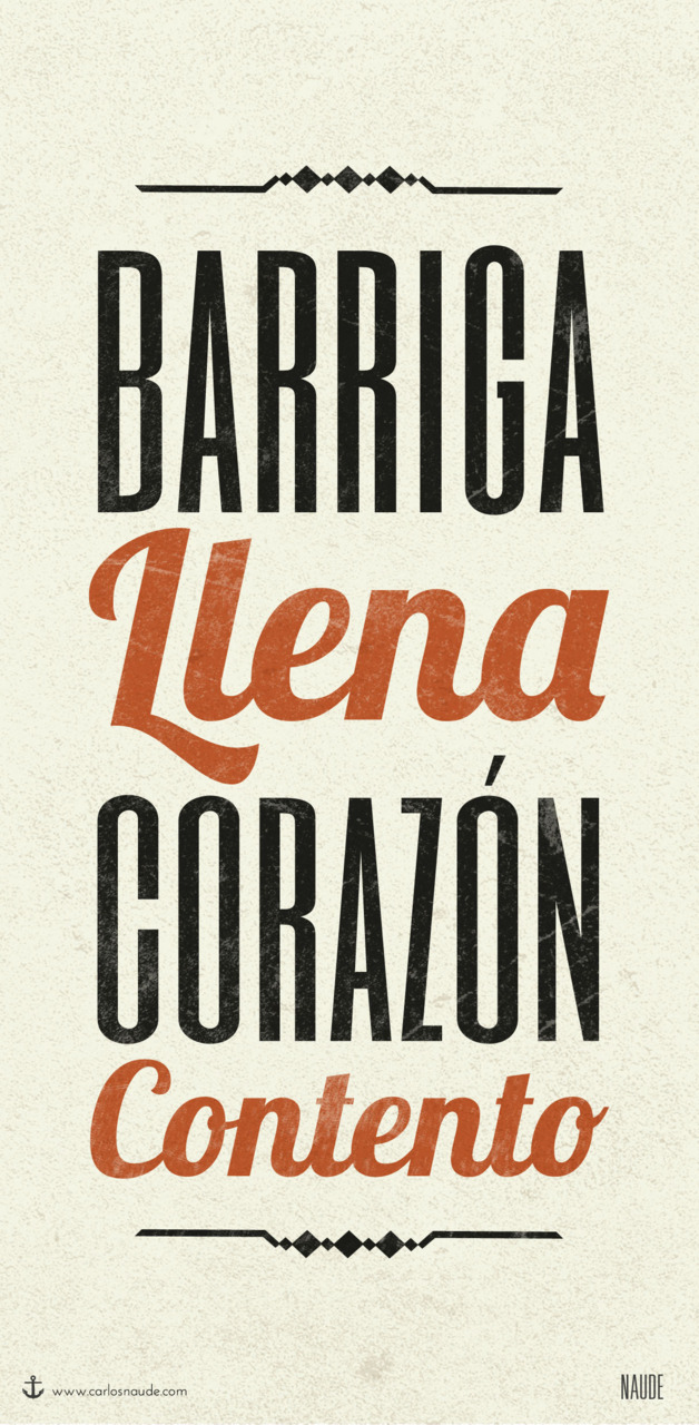 "Kitchen poster for a friend* ""Barriga Llena Corazon Contento"""