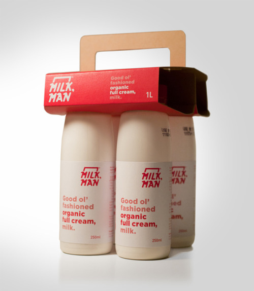 Cute packaging ! oliphillips:  Milk, Man Designed by Ben Stevens