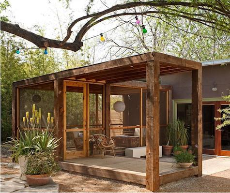screened porch, san antonio, texas/poteet architects via: remodelista