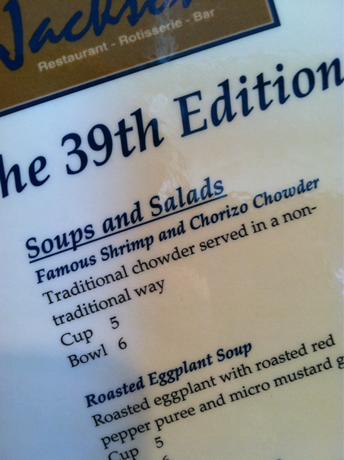 """… served in a non-traditional way."" Like on a plate?"